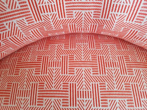 Red and white fabric detail