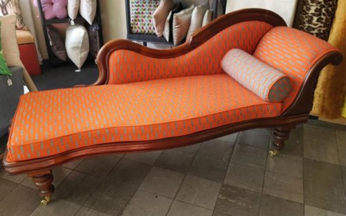 Orange chaise long